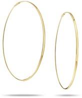 """Lana Large Flat Magic 14K Yellow Gold Hoop Earrings/2.5"""""""