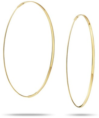 Lana Large Flat Magic 14K Yellow Gold Hoop Earrings/2.5""
