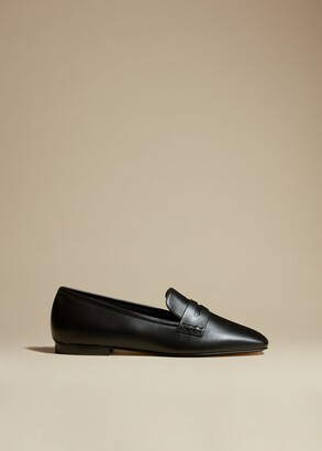 KHAITE The Carlisle Loafer in Black Leather