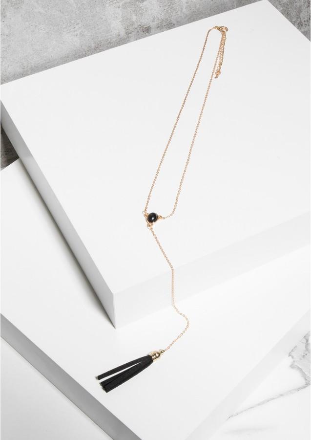Missy Empire Chrissy Gold Tassel Necklace
