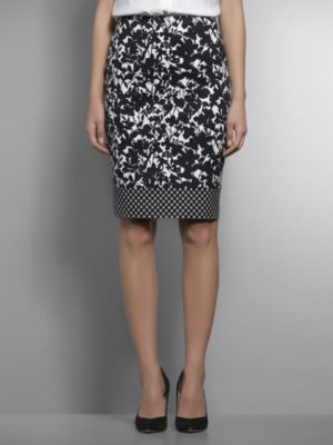 New York & Co. Dual Print Sleek Pencil Skirt