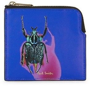 Paul Smith Beetle Leather Zip Pouch