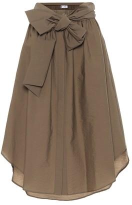 Brunello Cucinelli Cotton-blend midi skirt