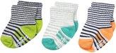 Robeez Baby-Boys Newborn Follow Me Stripes 3 Pack Socks