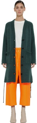 MM6 MAISON MARGIELA Oversize Wool Blend Knit Cardigan