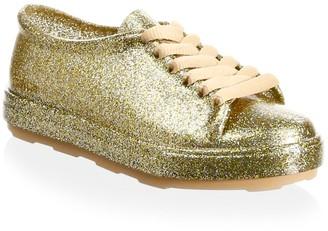 Mini Melissa Girl's Glossy Low-Top Sneakers