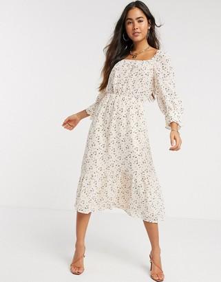 Y.A.S Fausta three quarter sleeve midi dress