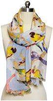 Saachi Flying Birds Scarf, Multi - Multicolor