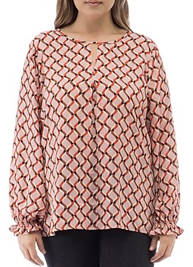 Baobab Collection Emi Geo Print Keyhole Top
