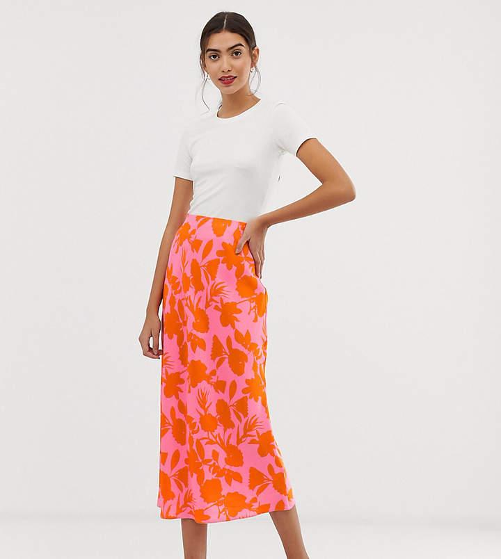 20d701d48eae Asos Floral Skirt Midi - ShopStyle