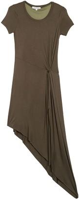 Vanity Room Front Knot Asymmetrical Hem Dress