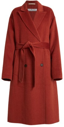 Acne Studios Double Breasted Belted Wool-Blend Overcoat