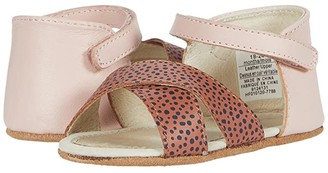 Robeez Riley Mini Shoez (Infant/Toddler) (Baked Clay Dot/Pink) Girls Shoes