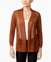Alfani Sheer Mixed-Knit Cardigan, Only at Macy's