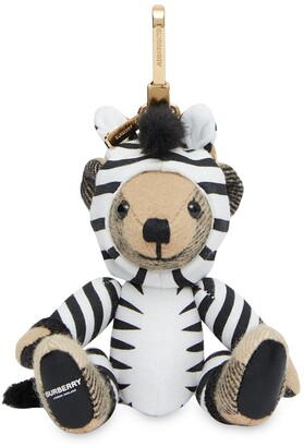 Burberry zebra costume Thomas bear charm keyring