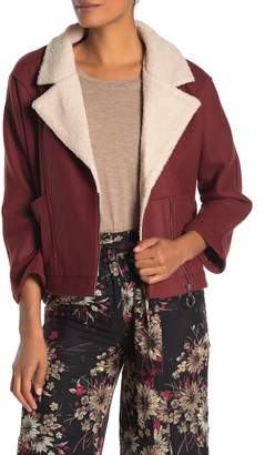Moon River Fleece Lined Notch Collar Jacket