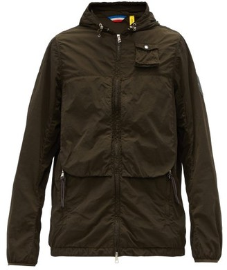 2 Moncler 1952 - Logo-patch Technical Hooded Jacket - Dark Green