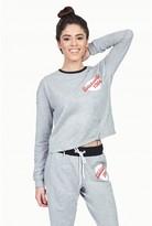 Select Fashion Fashion Womens Grey Multi Badge Sweat - size 10