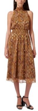 Sam Edelman Printed Smocked Fit & Flare Dress