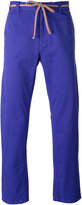 Marc Jacobs tie waist straight leg trousers - men - Cotton - 48