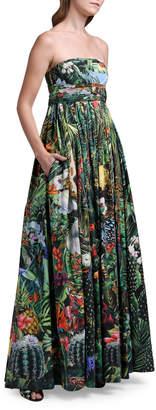 Dolce & Gabbana Strapless Cotton Poplin Gown