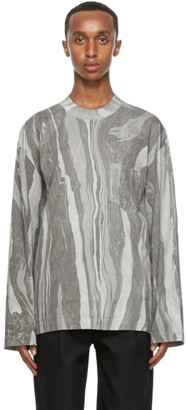 Nicholas Daley Grey Cotton Long Sleeve T-Shirt