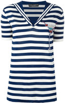 Dolce & Gabbana cocktail patch striped top