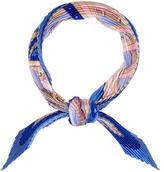 Hermes Rythmes Silk Plissé Scarf