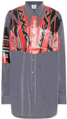 Vetements Printed cotton shirt