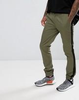 Asos Super Skinny Smart Tuxedo Joggers In Khaki