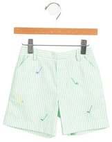 Florence Eiseman Boys' Embroidered Striped Shorts