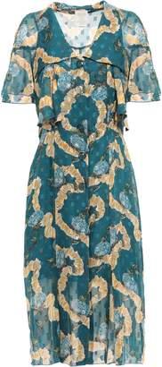 Anna Sui Fil Coupe Silk-chiffon Dress