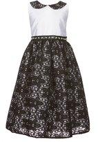 Jayne Copeland Little Girls 2T-6X Peter Pan Collar Lace Overlay Dress