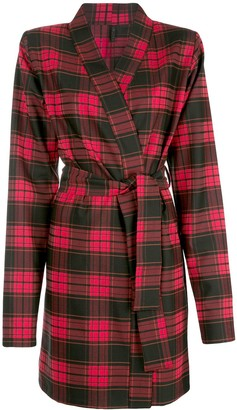 Unravel Project Plaid Belted Coat