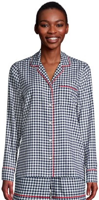 Lands' End Petite Long Sleeve Flannel Pajama Top