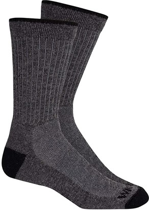 Wigwam Wool Excursion Lightweight 2-Pack (Charcoal) Crew Cut Socks Shoes