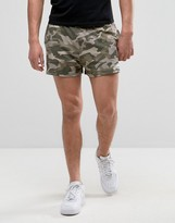 Ellesse Retro Shorts In Camo