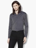 John Varvatos Dobby Stripe Sport Shirt
