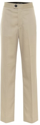 Kwaidan Editions High-rise straight wool-blend pants