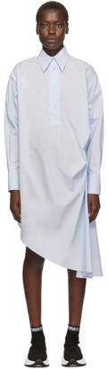 MM6 MAISON MARGIELA Blue Collared Shirt Dress