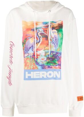 Heron Preston Crane Print Hoodie
