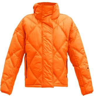 adidas by Stella McCartney Detachable-sleeves Quilted Shell Jacket - Orange