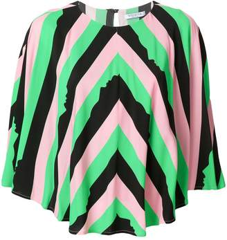 VIVETTA striped cape sleeve top