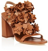 Tory Burch Blossom Strappy Block Heel Sandals
