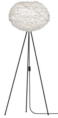 EOS Umage UMAGE - Large White Feather Black Tripod Floor Lamp - White/Black