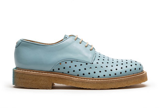 Tracey Neuls - PABLO Feather | Blue Crepe Sole Perforated Derby - 35