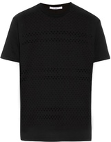 Givenchy Laser-cut cross cotton T-shirt