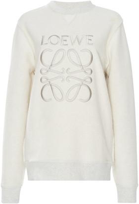 Loewe Embroidered Cotton-Terry Sweatshirt