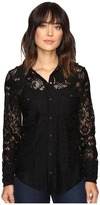 Stetson Black Lace Western Top