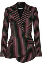 Altuzarra Wall Pinstriped Cotton-blend Blazer - Black